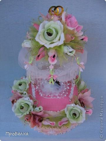 Здравствуйте! Несмотря на жару хочется творить, да ещё с конфетками! Мой вклад в свадебную пору-Беседка или Как красиво подарить денежку на свадьбу. фото 12