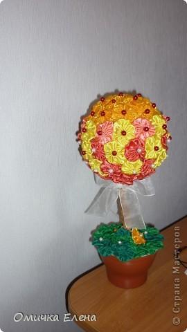 Цветочное деревце в подарок.Цветочки-йё-йё. фото 1