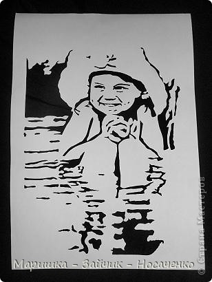 Доброго времени суток, любимые соседи по СМ!  Увидела в интернете фото этой маленькой очаровашки и просто в неё влюбилась)))). Воспользовалась Катюшиным МК http://stranamasterov.ru/node/397868?c=favorite ,  впервые вырезала портрет и выношу работу на ВАШ суд.