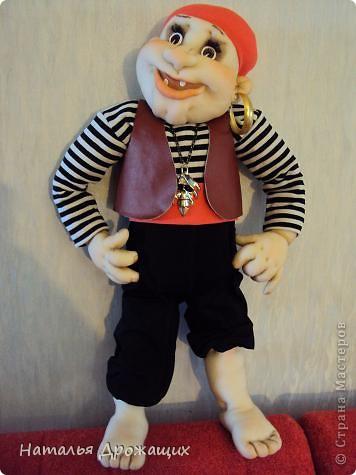 Пират получился веселый, а я хотела выполнить грозного пирата. фото 1