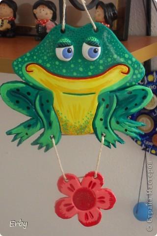 Мой папа коллекционирует лягушек, так что эта отправилась в его выставочный шкафчик. фото 1