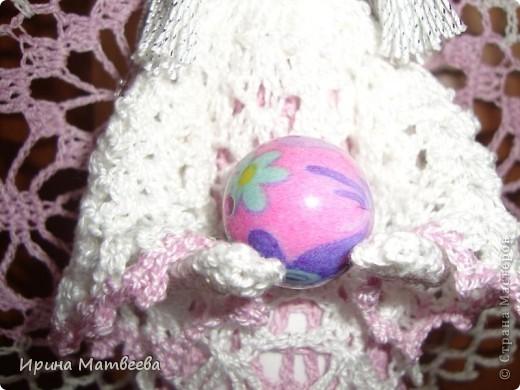 """Вдохновение для создания этого ангела я обрела  здесь http://www.liveinternet.ru/users/3095509/post96620630/   Связала его из """"ириса"""". фото 4"""