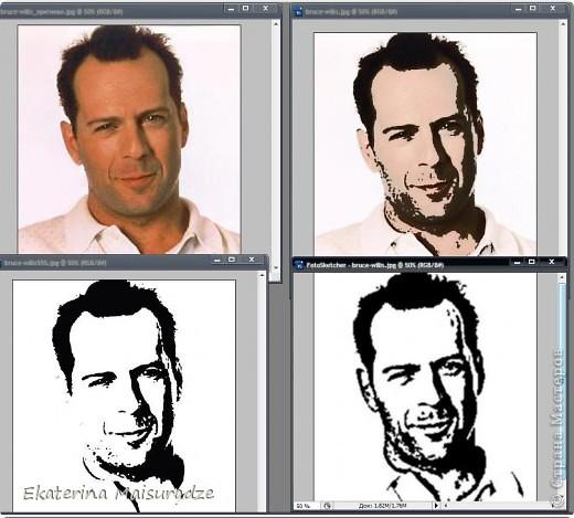 ДОБРОГО ВРЕМЕНИ СУТОК!!! Попробую показать и объяснить как делаю шаблон в графическом редакторе Photoshop. У меня стоит версия Photoshop CS3. --------------------------------------------------- Должна сказать, что используя Photoshop хорошо  получаются фотографии в качестве портрета, где светлый фон и нет множества лишних деталей.  Есть два варианта создания шаблона: ПЕРВЫЙ - используя коррекцию изображения ИЗОГЕЛИЯ и ДИФФУЗИЮ. ВТОРОЙ - используя фильтр ПОЧТОВАЯ БУМАГА   фото 25