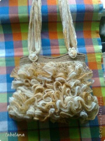 Кто-то вяжет шарфики а я решила сумочку фото 2