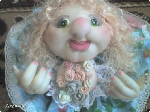 Здравствуйте дорогие.Наконец нашла как делать куклу попика с грудью.Вот такая мечта поэта получилась. фото 2