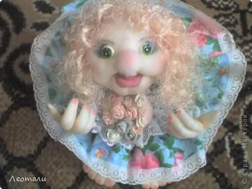 Здравствуйте дорогие.Наконец нашла как делать куклу попика с грудью.Вот такая мечта поэта получилась. фото 1
