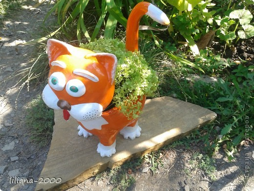Кот кашпо фото 2