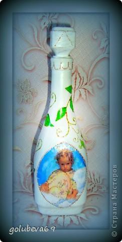 Декупаж бутылочки с росписью. фото 1