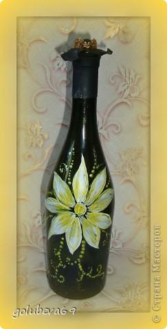 Декупаж бутылочки с росписью. фото 5