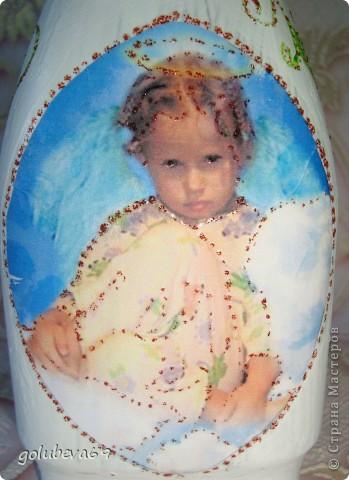 Декупаж бутылочки с росписью. фото 4