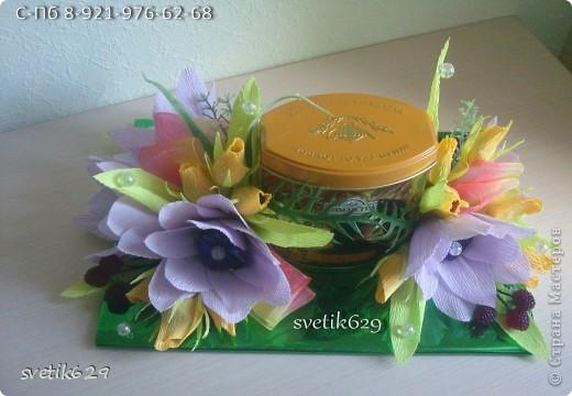 Вот попросили оформить банку чая в подарок на День рождения . Надеюсь подарок понравится. фото 3