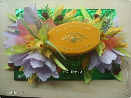 Вот попросили оформить банку чая в подарок на День рождения . Надеюсь подарок понравится. фото 2