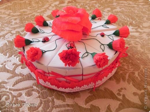 Тортик из бомбоньерок фото 2