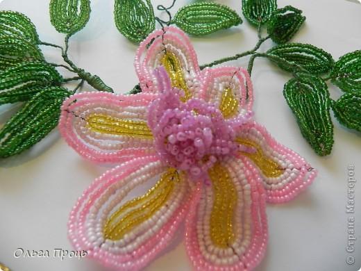 Цветок из бисера фото 1