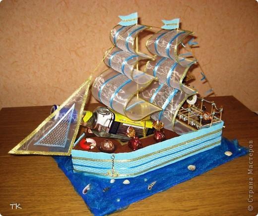 Вот и сбылась моя мечта! Я очень долго любовалась сладкими кораблями и не решалась сделать. Помог юбилей! Нужен был оригинальный подарок и я села мастерить! фото 5