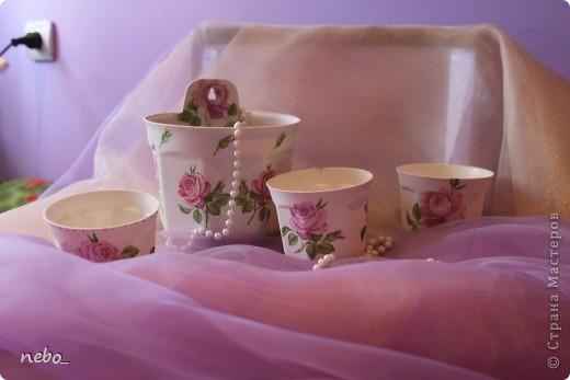 """Цветочные горшочки """"Роза"""" фото 2"""