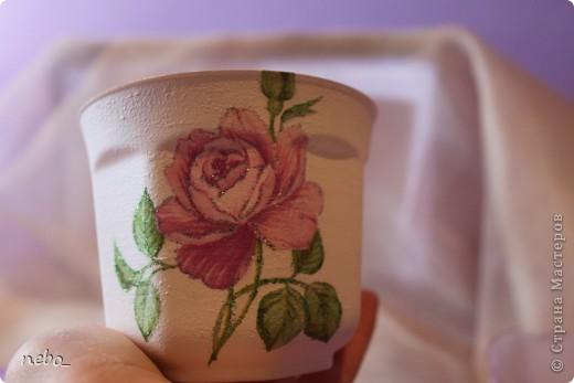 """Цветочные горшочки """"Роза"""" фото 4"""