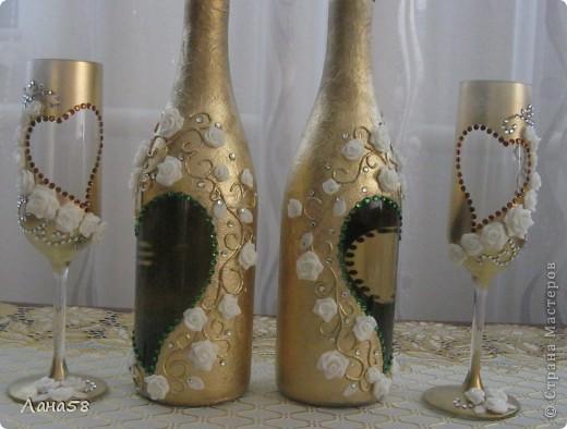 декор свадебных бутылок фото 3