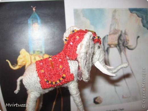 По мотивам великого мастера Сальвадора Дали родилась у меня идея для подарка - Слон на длинных ножках.. Вот собственно и он фото 5