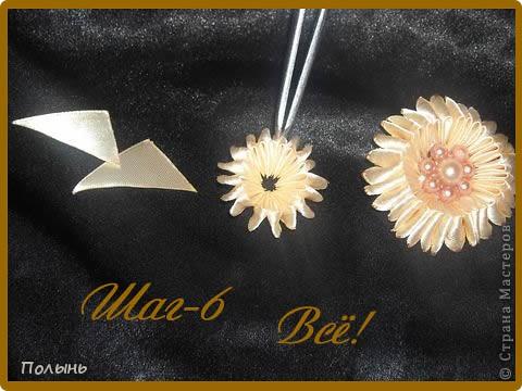 """Здравствуйте Мастерицы! Назвала я этот МК-""""Канзаши ИЗ канзаши"""" или остатки от канзаши в дело:))Придумала сама,МК простейший,но цветочки получаются очень интересные,в конце допишу как и куда ещё можно применить.На фото два цветочка,вот из остатков от большого цветка будем делать маленький цветочек,чем-то похожий на конфетку. фото 7"""