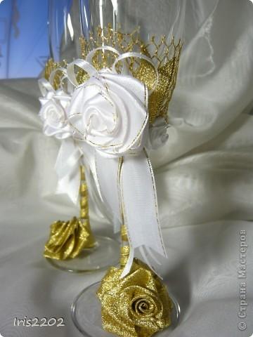 """Свадебные бокалы """"Чудесный день"""" в подарочной упаковке... фото 6"""