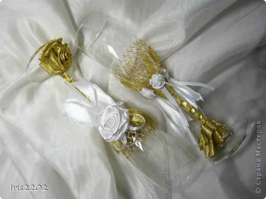 """Свадебные бокалы """"Чудесный день"""" в подарочной упаковке... фото 7"""