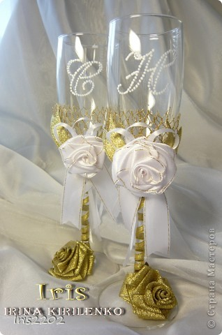 """Свадебные бокалы """"Чудесный день"""" в подарочной упаковке... фото 5"""