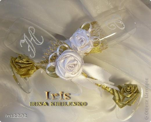 """Свадебные бокалы """"Чудесный день"""" в подарочной упаковке... фото 2"""
