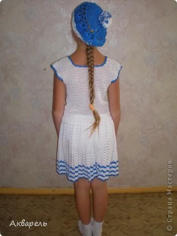 """Матросочка для Оли готова. Красиво на модельке смотрится. Празднично! И немножко - """"ретро""""! фото 15"""