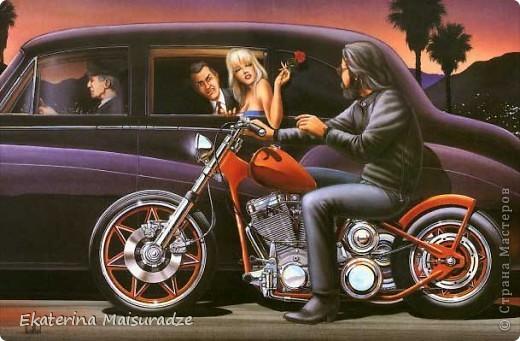 Дэвид Манн (David Mann) является самым известным и популярным художником, рисующим на байкерскую тему.  фото 3