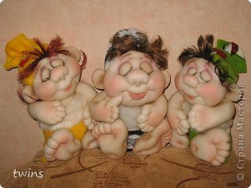 эти малыши сшиты по МК pawy - малыш в мешочке. фото 13