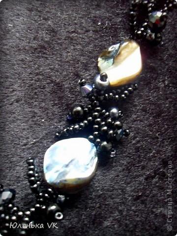 Для изготовления этого украшения был использован чешский бисер различных размеров,  натуральная ракушка. фото 3