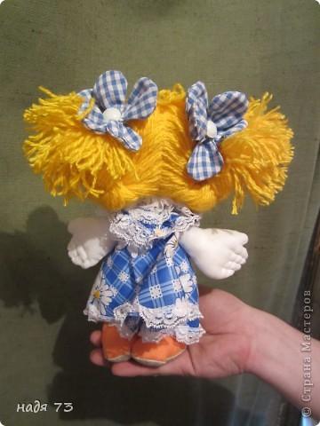 Это работы моей подруги Гали,я только рисовала глаза.Эту куклу звать Конопушка-веснушка. фото 2