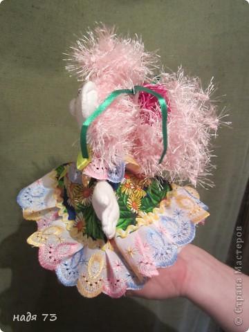Это работы моей подруги Гали,я только рисовала глаза.Эту куклу звать Конопушка-веснушка. фото 7