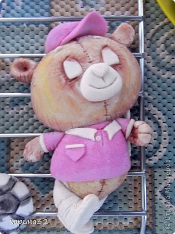 Добрый день дрогие мастерицы! Додела наконец медвежоночка, по картинки художник-иллюстратор Linmida. Пока без лака. фото 2