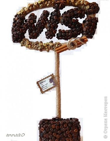 Вот такие логотипы можно сделать из зерен кофе,ароматно,красиво и необычно)) фото 1