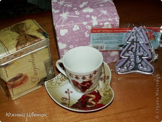Здравствуйте! Пришла мне посылочка из Москвы от Детсада. Да таааакая огромная!  Такой вот вкусный сюрпризик по тематике игры: шоколадка с кофе, обалденная открытка и мешочек с кофейными зёрнами фото 8
