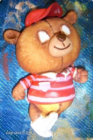 Добрый день дрогие мастерицы! Додела наконец медвежоночка, по картинки художник-иллюстратор Linmida. Пока без лака. фото 3