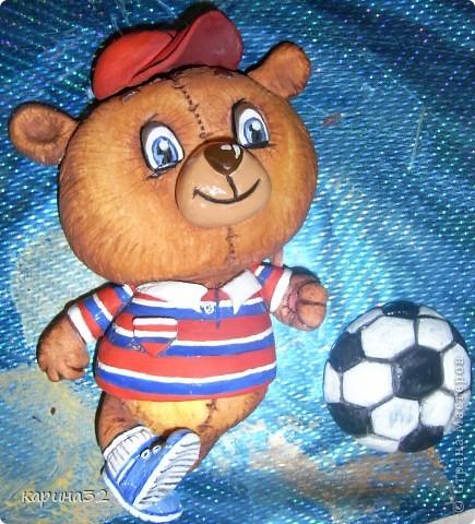 Добрый день дрогие мастерицы! Додела наконец медвежоночка, по картинки художник-иллюстратор Linmida. Пока без лака. фото 4