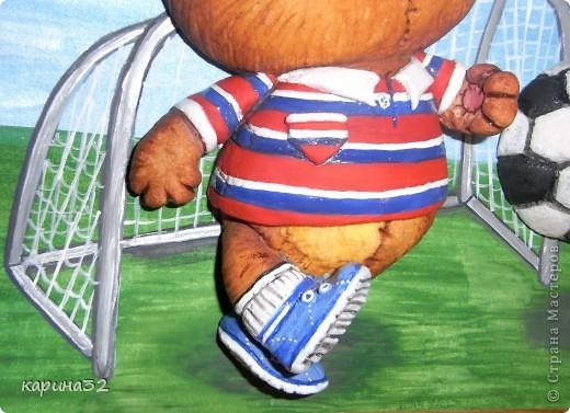 Добрый день дрогие мастерицы! Додела наконец медвежоночка, по картинки художник-иллюстратор Linmida. Пока без лака. фото 7