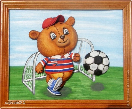Добрый день дрогие мастерицы! Додела наконец медвежоночка, по картинки художник-иллюстратор Linmida. Пока без лака. фото 5