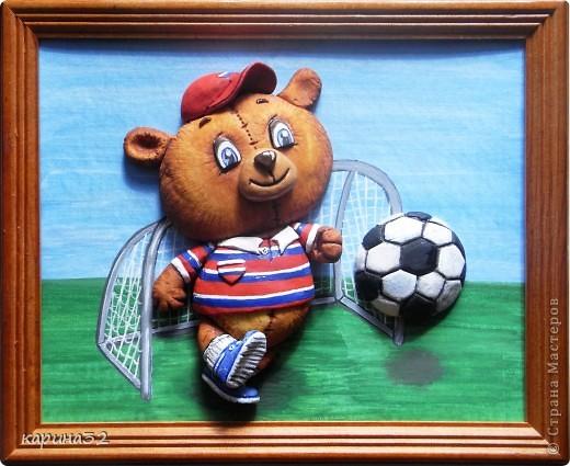 Добрый день дрогие мастерицы! Додела наконец медвежоночка, по картинки художник-иллюстратор Linmida. Пока без лака. фото 1