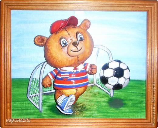 Добрый день дрогие мастерицы! Додела наконец медвежоночка, по картинки художник-иллюстратор Linmida. Пока без лака. фото 10
