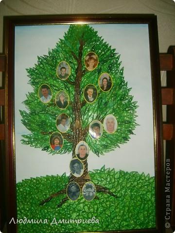 Вот такой подарок был сделан бабушке на 80-летие. Именинница в самом центре ствола. В корнях ее родители, чуть ниже - муж, а на ветвях дети, внуки и правнуки. фото 2