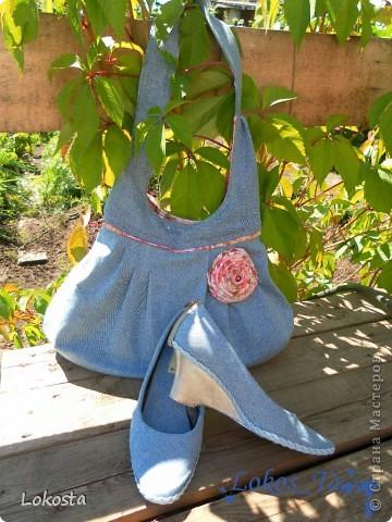 Джинсовая сумка, или как я реанимировала туфли...