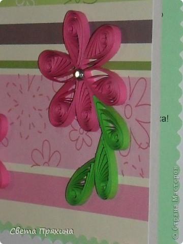Мне купили красивую бумагу для скрапбукинга и вот я решила её использовать.сделала вот такую открытку маме на день руждения.  фото 5