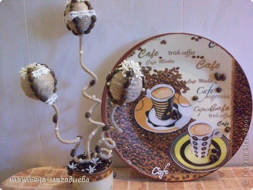 Выставляю на ваш суд мой  новый кофейный топиарий. фото 3