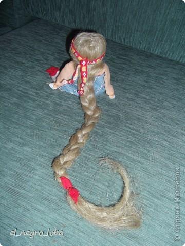 Сегодня я сшила подростковую куклу. Мои дочки тоже шили. Моя - вот такая. А дочки свои у себя наверное вывесят фото 2