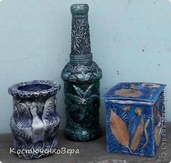 Потихонечку натворила новые бутылочки в технике пейп арт. http://stranamasterov.ru/user/151613 Новые эксперименты. фото 12