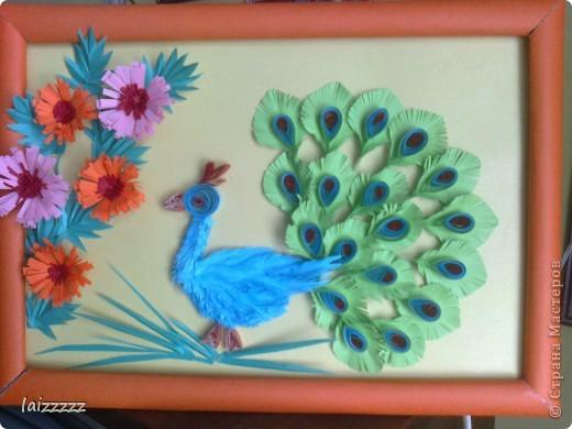 """Картина """"Букет цветов"""" в пастельных тонах. Квиллинг.  фото 4"""